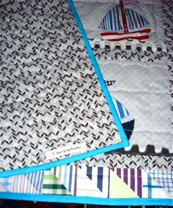 Organic cotton Ragg Tagg by Daisy Janie makes a great quilt backing.