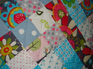 SalsySafrano Quilts. Handmade baby quilt.e
