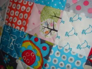SalsySafrano Quilts: Handmade cotton baby quilt.