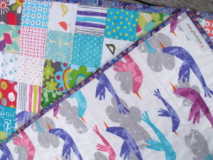 """""""Fly Away"""" Quilt by SalsySafrano Quilts."""