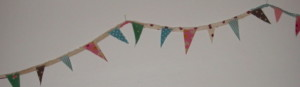 Selvedges and cut offs make great bunting.