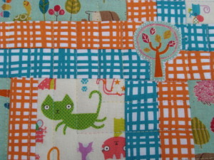 Modern Baby Quilt by SalsySafrano Quilts.