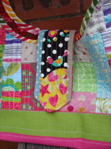 Quilt As You Go Patchwork Bag.