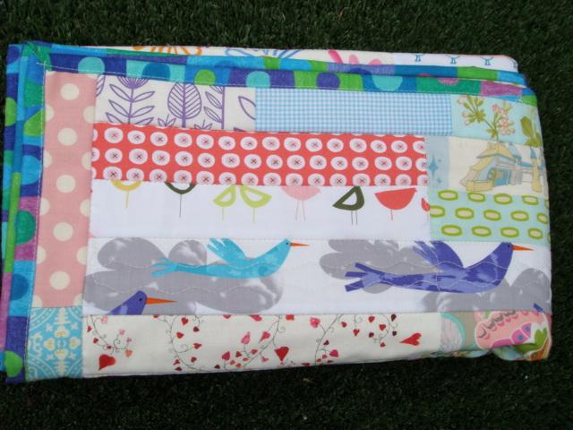 Summer Garden baby quilt.
