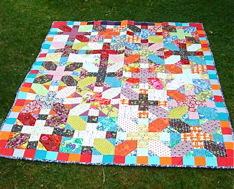 """+ and X"" Quilt."