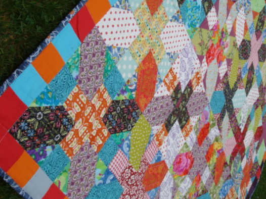 """""""+ and X"""" Quilt."""