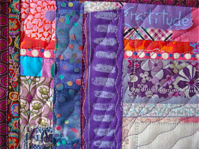 Detail of Mini Quilt Entry in the Pantone Radiant Orchid 2014 Challenge